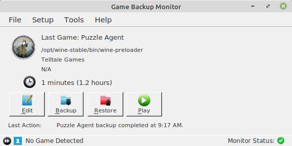 Game Backup Monitor [Linux]